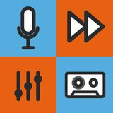 music set icons design Stock Photography