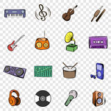Music set icons Stock Image