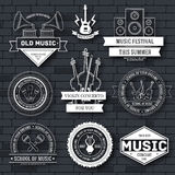 Music set label template of emblem element for your product or design, web and mobile applications with text. Vector Royalty Free Stock Images