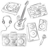 Music Set Sketch. For designers Royalty Free Stock Photography