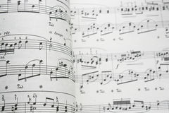 Music sheet. Classical sheet music close up Royalty Free Stock Photos