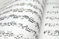 Music Sheet. Guitar music sheets. Good file for musical backgrounds Stock Image