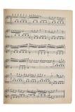 Music sheet stock photography