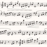 Music sheet. Seamless texture in form of music sheet Stock Image