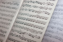 Music sheet. In concert Royalty Free Stock Photos