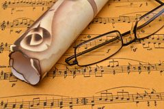 Music sheet stock photography