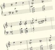 Music Sheet. Semi Close up of a music sheet Stock Image