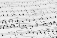 Music sheet. Abstract art background Stock Photos