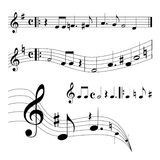 Music sheet. Black and white music background Stock Images