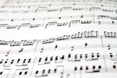 Music sheet Royalty Free Stock Photos