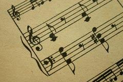 Music sheet. An antique music sheet (printed Stock Photo