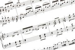 music sheet Στοκ εικόνα με δικαίωμα ελεύθερης χρήσης