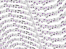 Music sheet. Illustration of music sheet, abstract Stock Photos