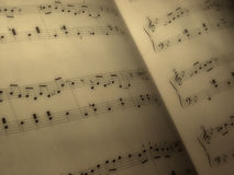 Music sheet Royalty Free Stock Photography