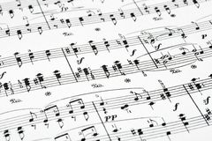 Music sheet. Abstract art background Royalty Free Stock Image