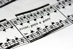 Music sheet royalty free stock photos