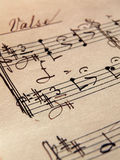 Music Sheet. Closeup of music sheets on an old paper Stock Image