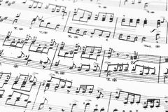 Music sheet. Abstract art background Royalty Free Stock Photography
