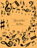 Music sheet background Royalty Free Stock Photo