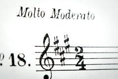 Music sheet detail Royalty Free Stock Images