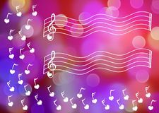 Music Sheet Greeting Card Stock Photography