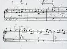 Music sheet - hard study royalty free stock photos