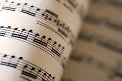 Music sheet, macro photo Stock Photo