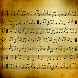 Music sheet with notes. There is paper sheet filled with music notes Royalty Free Stock Photography