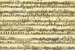 Music sheet page Stock Photos