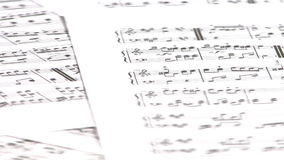 Music Sheet. Rotatong close up stock video