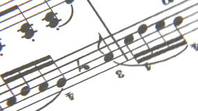 Music Sheet. Rotatong close up stock video footage
