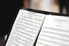 Music sheet of a wedding march. Music sheet of a classical wedding march Royalty Free Stock Photography