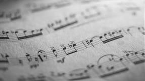 Music sheet, XIX century Puccini Aria Stock Images