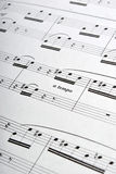 Music sheets. Pages macro background Royalty Free Stock Photography