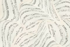 Music sheets 3D background. Musical Notes. Top view. Stock Photography