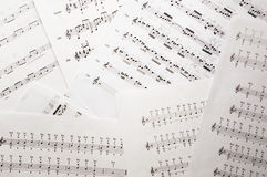Music sheets background with notes Royalty Free Stock Photography