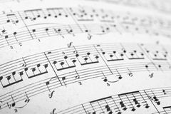 Music sheets pages. A music sheets pages macro Stock Image