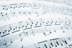 Music sheets pages macro Stock Photo