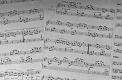 Music sheets ovrview royalty free stock images