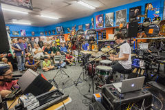 Music Shop Drum Demo People Royalty Free Stock Image