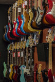Music Shop Electric Guitars Dozens Stock Photo