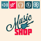 Music shop Stock Images