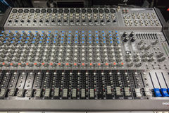 Music Shop Mixing Board Stock Images
