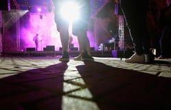 Music show festival in mallorca stock photo