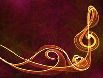 Music sign abstract background Stock Image