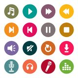 Music sign icon set Royalty Free Stock Photography