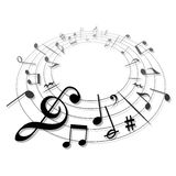 Music sign vector. A creative picture of individual music Royalty Free Stock Images