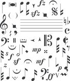 Music signs stock images