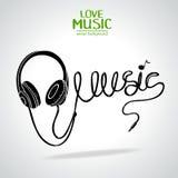 Music silhouette stock illustration