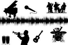 Music Silhouette Stock Photo
